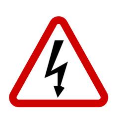 high voltage sign danger symbol vector image