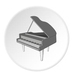 Black grand piano icon cartoon style vector image
