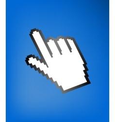computer hand cursor vector image vector image