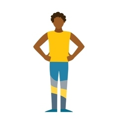 Healthy built strong sport man silhouette vector image vector image