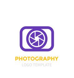 photography logo template vector image