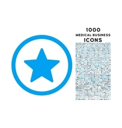 Star Rounded Icon with 1000 Bonus Icons vector image