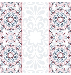Floral greeting card vector image