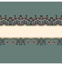 Ornate vintage label vector image
