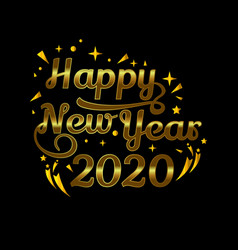 2020 symbol text for new year element design vector image