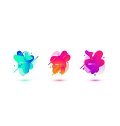 abstract design set of liquid shapes fluid vector image