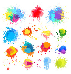 Abstract paint splat paint splashes color vector