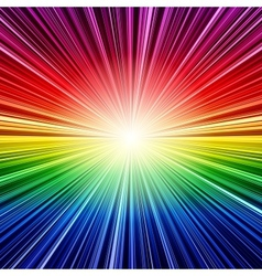 Abstract rainbow stripes burst background vector image