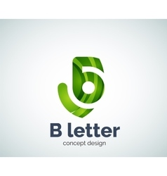 B letter concept logo template vector
