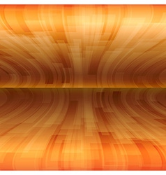 background orange stripes wave horizontal vector image vector image
