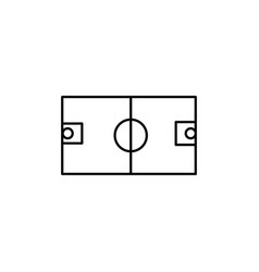 basketball field icon vector image