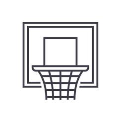 basketball hoop flat line concept vector image vector image