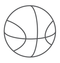 basketball thin line icon sport and equipment vector image