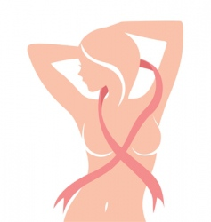 Breast cancer concept vector