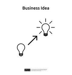 business idea with light bulb line icon element vector image