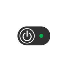 button switch on off with light indicator stock vector image