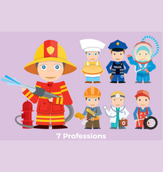 Childrens people profession vector