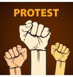 clenched fist held in protest freedom vector image