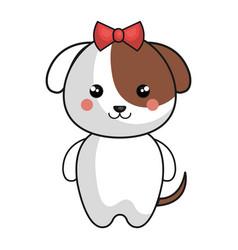 cute and tender female dog kawaii style vector image