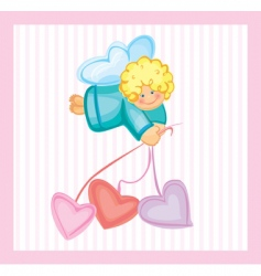 cute card of small angel vector image vector image
