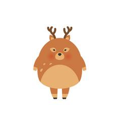 deer cartoon designcute bambi animal vector image