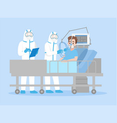 Doctor in personal protective suit ppe clothing vector