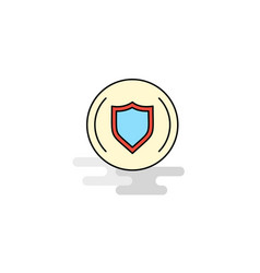 Flat protected shield icon vector