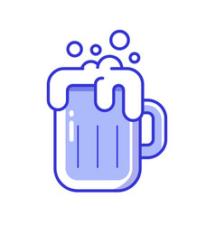 foamy beer glass icon vector image