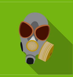 Gas masks icon flate single weapon icon from the vector