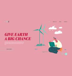 Global warming nature pollution problem website vector