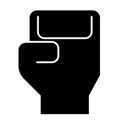 glyph beautiful boxing glove icon vector image
