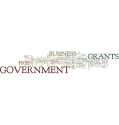 Government grants text background word cloud vector