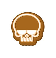 Halloween cookie skull cookies for terrible vector