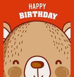 Happy birthday to you bear cartoon vector