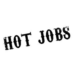 Hot Jobs rubber stamp vector