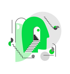 human head icon with abstract geometric vector image