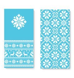 Invitation card with folk pattern vector