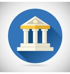 Law court museum bank house symbol justice finance vector