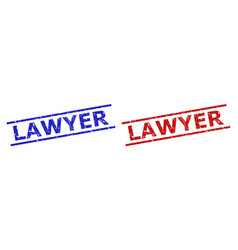 Lawyer stamp seals with rubber texture vector