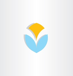 letter v logo logotype blue yellow icon element vector image