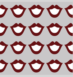 lips seamless art texture white red color vector image