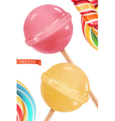 lollipop candy 3d realistic icon vector image