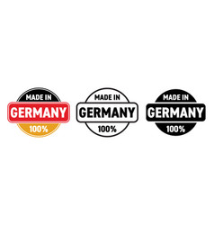 made in germany icon german made quality product vector image