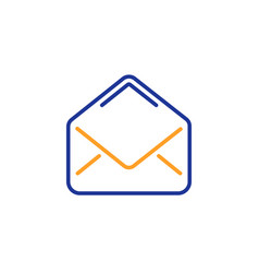 mail line icon message correspondence sign vector image