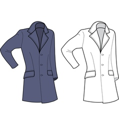 man coat vector image