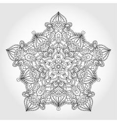 Mandala star backgroundTribalethnic pattern vector image