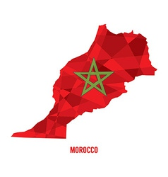 Map of Morocco vector image