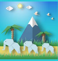 Paper origami concept vector