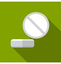 Pill flat icon vector image