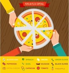 Pizza night invitation People having dinner vector
